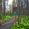 McDonald Creek Asphalt Bike Path - Glacier - Montana - USA