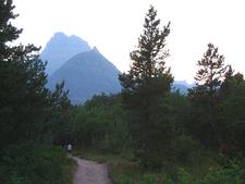 McDonald Creek Bike Path At Glacier - Montana - USA