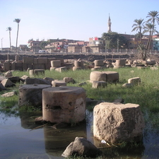 Ruins Of The Pillared Hall Of Rameses