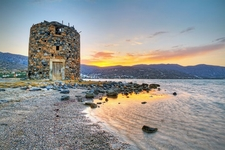 Mirabello Bay Windmill Ruin - Crete Greece