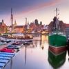 Motlawa River Harbor At Gdansk