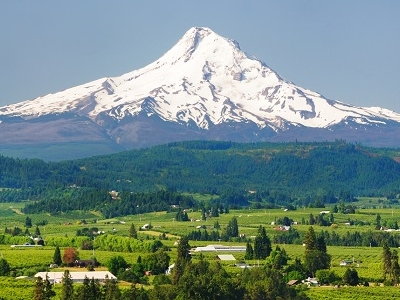 Mt Hood With Hood River Valley OR