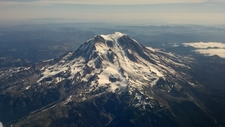 Aerial Photograph Of Mt. Rainier