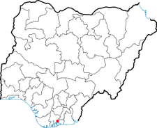 Map Of Nigeria Showing The Location Of Port Harcourt In Nigeria.