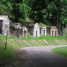 A Few Of The Many Mausoleums At Green-Wood