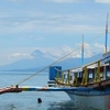 Mayon Volcano From Boat