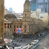 Melbourne Town Hall And Collins Street