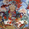 Mural Painting In The Hemis Monastery