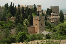 Nasrid Palaces At Alhambra - Granada Andalusia