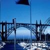 Newport Waterfront With The Yaquina Bay Bridge