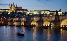 Night View Castle And Charles Bridge
