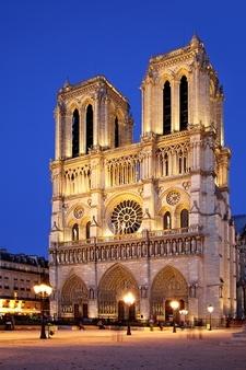 Night View Of Notre Dame De Paris