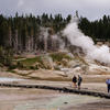Norris Geyser Basin With Trail