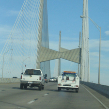 Northbound On Dames Point Bridge