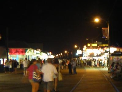 North  Wildwood Boardwalk Night Looking North