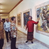 Nyoman Rudana At The Painting Exhibitions