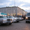 Old American Cars At The Market Square