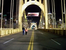 Over Roberto Clemente Bridge - Pittsburgh PA