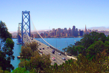 Daytime View Of The Bay Bridge