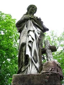 Ora Brewster Grave Statue Old Gray