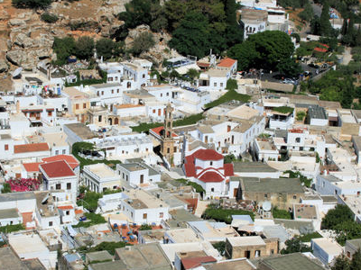 Panorama Of Lindos.