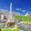 Peterhof Palace Grand Cascade In St. Petersburg