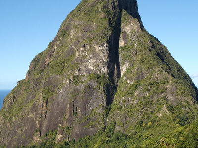 Petit Piton Seen From The Piton Mitan Ridge