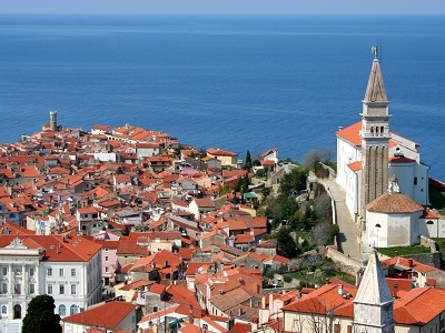 Piran Village By Adriatic Sea