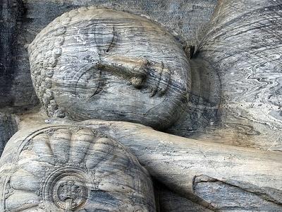 Polonnaruwa Reclining Buddha Statue