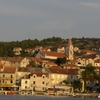 Port In Postira With Church