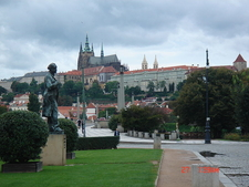 Prague Castle Cloudy