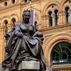 Queen Victoria Statue Outside Building