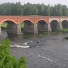The Old Brick Bridge across the Venta river