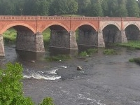 The Old Brick Bridge across the Venta river