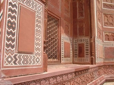 Red Sandstone Taj Mahal Mosque