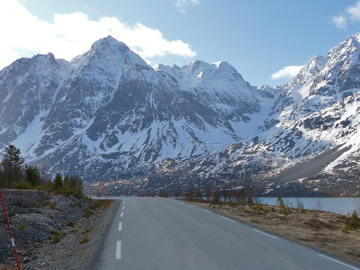 Rv 91 Road In Lyngen
