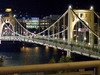 Roberto Clemente Bridge - Allegheny River - Night View - Pittsburgh PA