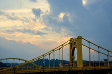 Roberto Clemente Bridge At Sunset - Pittsburgh PA