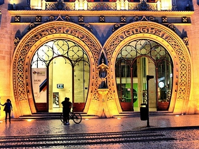 Rossio Station - Lisbon Night View - Portugal