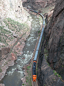 A View Of The Royal Gorge Route Railroad