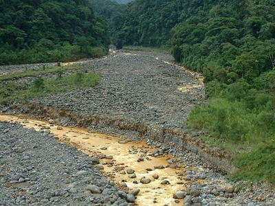 Súcio River During Dry Weather
