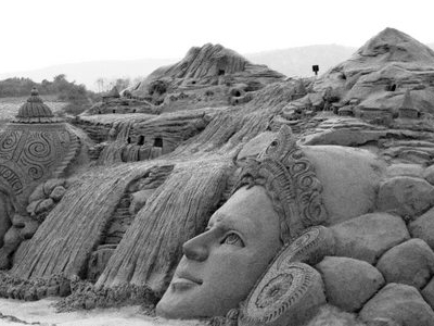 Sand Sculpture At  Bandrabhan  2 C Hoshangabad