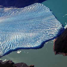 Aerial View Of The Glacier