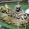 Sculpted Cibeles Fountain In Madrid