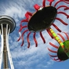 Seattle Space Needle & Giant Glass Sculpture