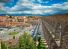 Segovia Aqueduct In Spain