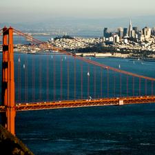 San Francisco From Marin Highlands