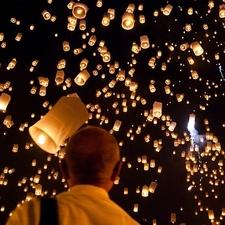 Sky Lantern Festival - San Sai Thailand