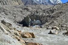 Snout Of The Glacier Along The River