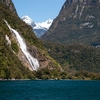 Snow & Waterfall @ Milford Sound NZ